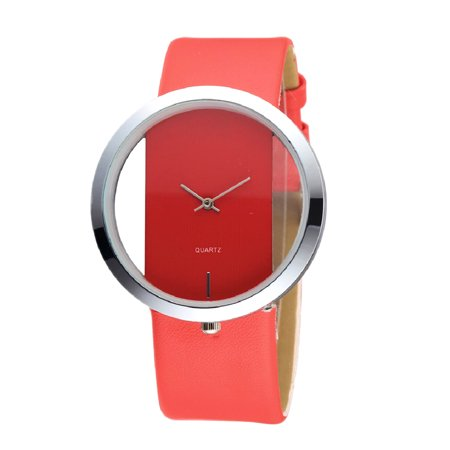 Women Stylish Quartz Watch Lady Fashion Simple Wristwatches Unique Casual Leather Band Watches