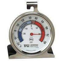 TRUTEMP Fridge/Freezer Thermometer,-20 to 80F 3507