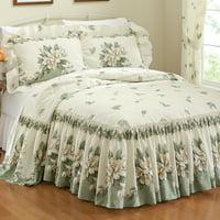 Magnolia Garden Floral Ruffle Skirt Lightweight Bedspread