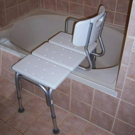 Shower Stool Chair Bath Seat Medical Adjustable Bathroom Bath Tub Transfer Bench ()