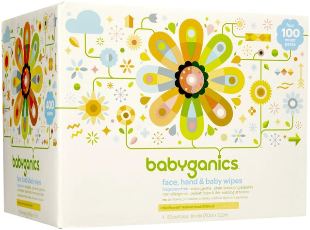 Babyganics Baby Wipes 400 Count by BabyGanics
