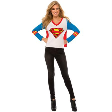 Rubie's Costume Co Women's DC Superheroes Supergirl Sporty Tee, Multi, Small