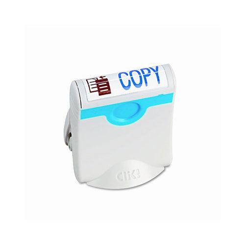 CLIK! Clik! Premium Two-Color Message Stamp, ''Copy,'' Pre-Ink/Re-Ink, Blue/Red
