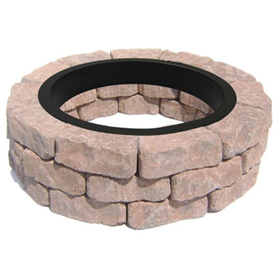- OLDCASTLE Ashland Flagstone Fire Pit Kit 70580357 - Walmart.com