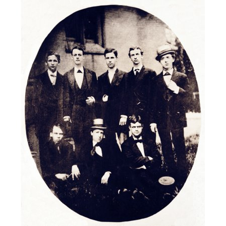 Young William Howard Taft And Classmates 1870S Rolled Canvas Art   Science Source  18 X 24