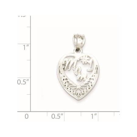 925 Sterling Silver #1 Mom (16x25mm) Pendant / Charm - image 1 de 2