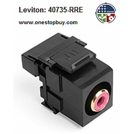 Leviton 40735-RRE RCA-110 QuickPort Snap-In Connector - -