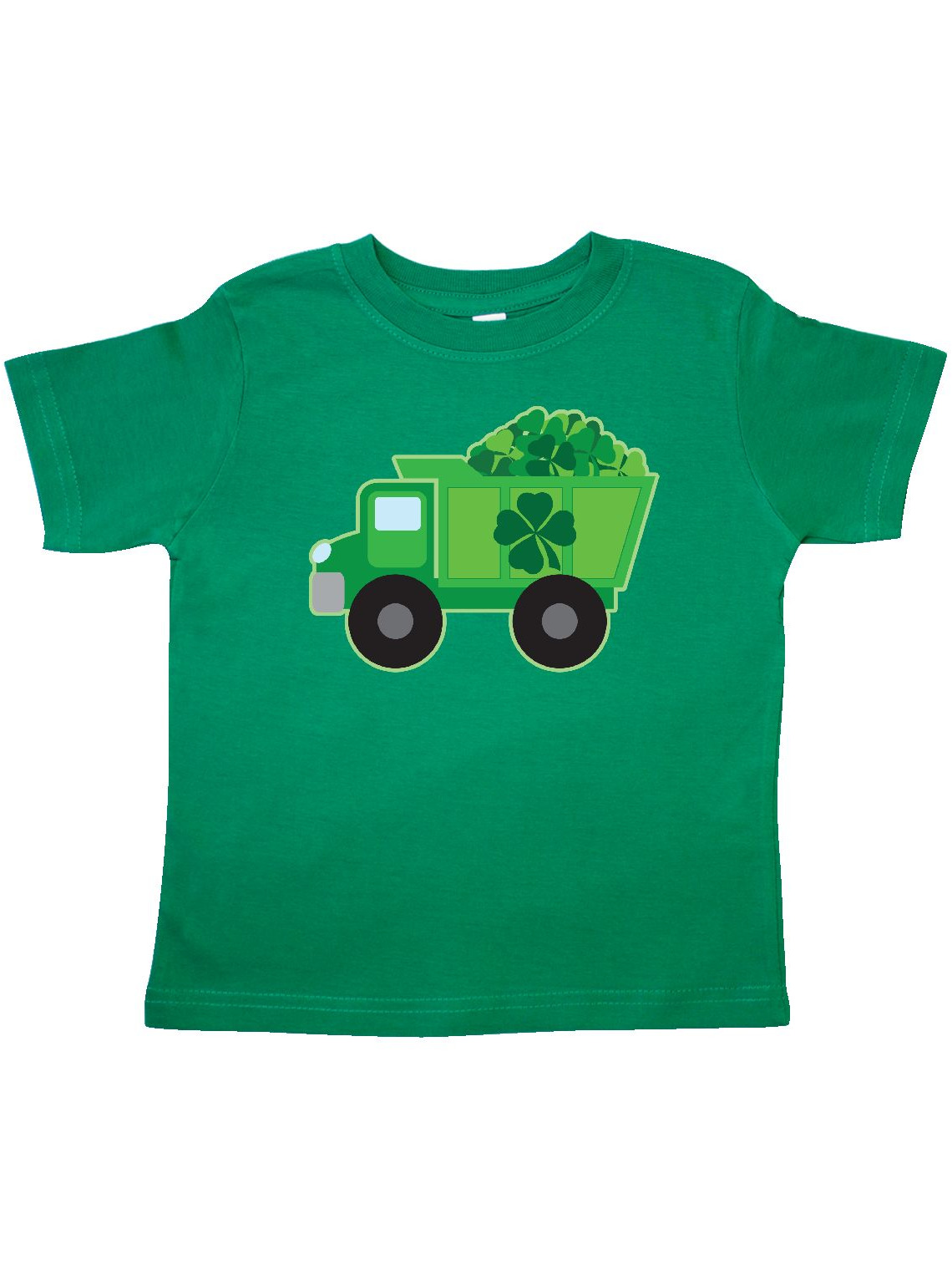 St Patricks Day Irish Clover Dump Truck Childs Toddler T-Shirt