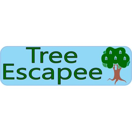 10in x 3in tree escapee bumper sticker car decal vinyl window stickers decals