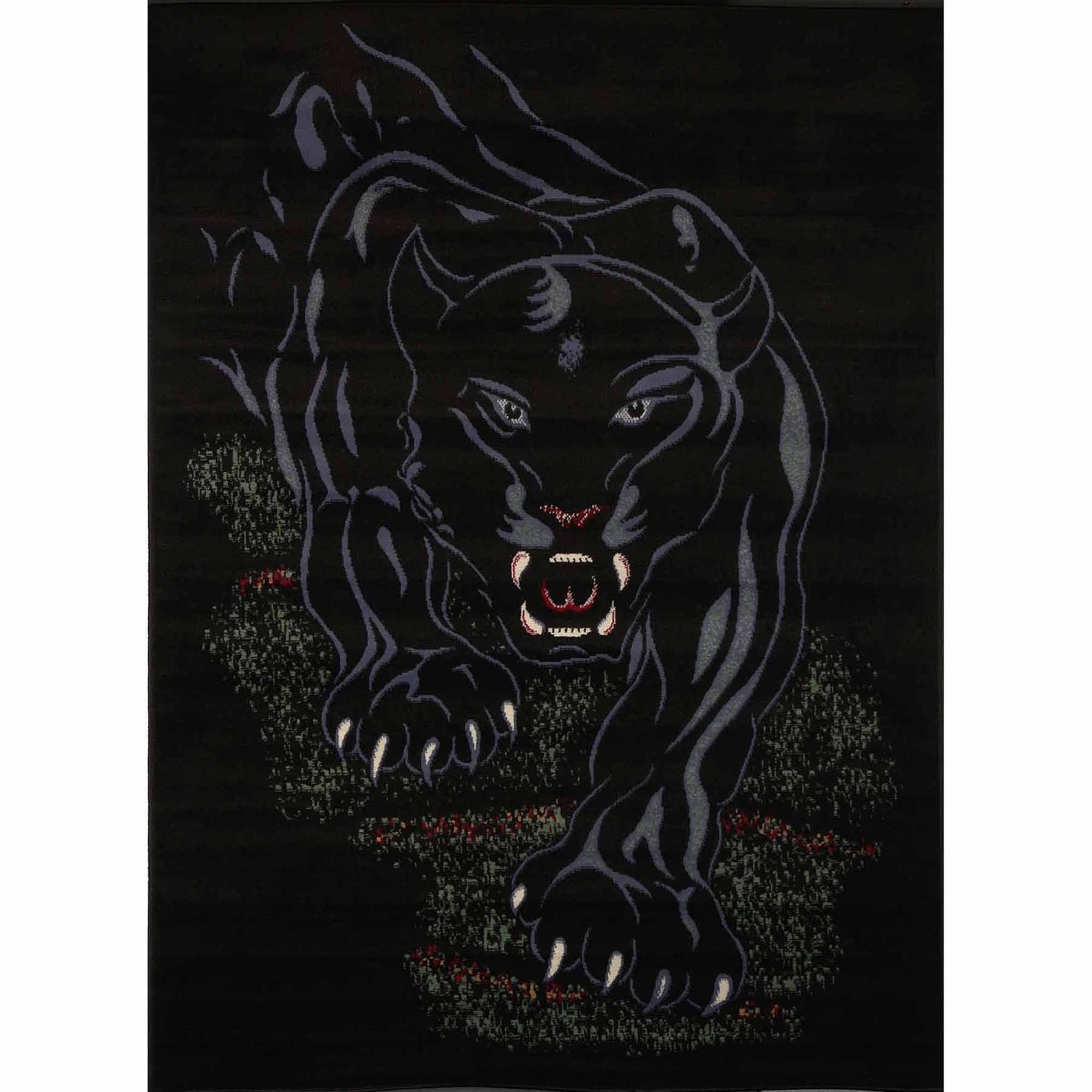 Home Dynamix Zone Collection 7231-450 Area Rug, Black