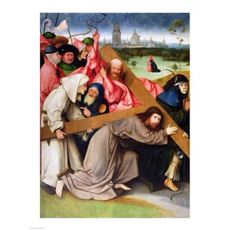 Christ Carrying the Cross Canvas Art - Hieronymus Bosch (24 x 36)