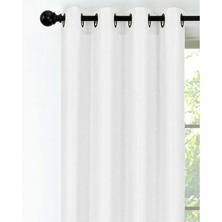 Hotel Room Darkening Grommet Top Textured Curtain Panel - White Hotel Collection Windows
