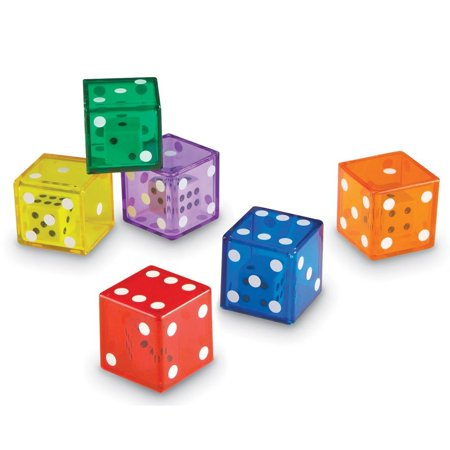 Learning Resources Jumbo Dice In Dice, 12 Dice, Ages 3+