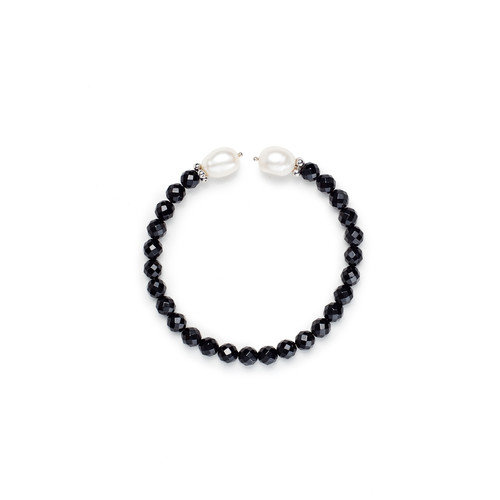 Eco Opulence Black Spinel Cuff