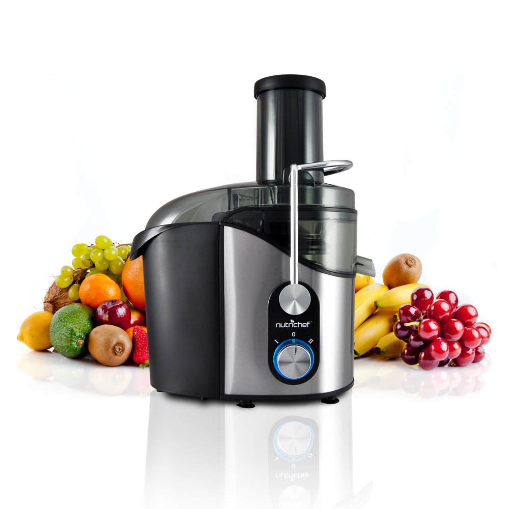 Nutrichef Juice Extractor Kitchen Juicer - 1.16 Quart Capacity - 800 W Motor - 12000