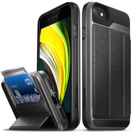 Vena iPhone SE 2020 / iPhone 8 7 Wallet Case, vCommute (Military Grade Drop Protection) Flip Leather Cover Card Slot - image 1 of 5