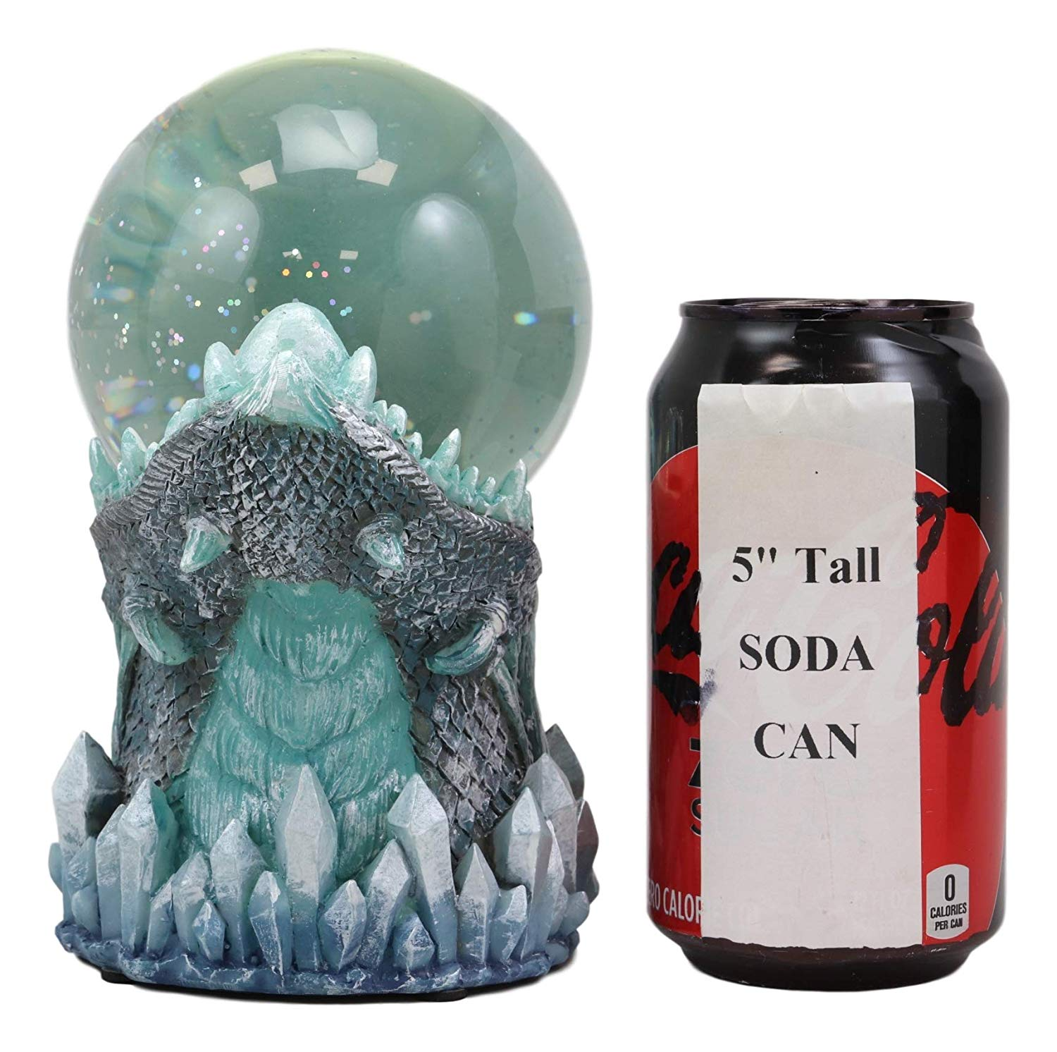 Frost Ice Dragon StormBall Iceburg Statue Sound Activated Gliter Sparkle
