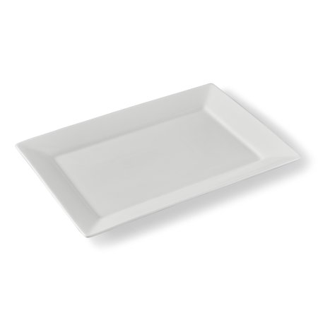 "Better Homes & Gardens 10"" x 14"" White Porcelain Serving Platter"
