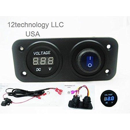 Awesome 12V Battery Bank Voltmeter Monitor Rv Marine House Starting Wired Wiring Digital Resources Honesemecshebarightsorg