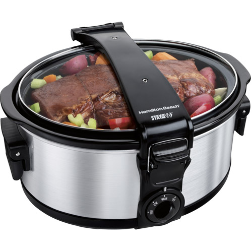 Hamilton Beach Stay or Go Single Clip 6-Quart Slow Cooker