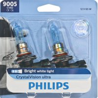 Philips Crystalvision Ultra Headlight 9005, P20D, Clear, Always Change In Pairs!
