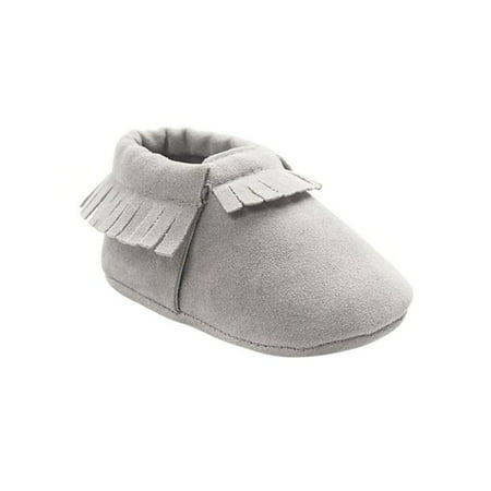 Infant Cute Baby Kids Boys Girls Soft Crib Tassel Leather Shoes ()
