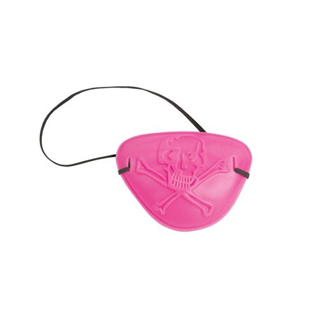 Club Pack of 60 Pirate Parrty! Child-Sized Pink Pirate Eye Patch Party Favors - Pink Pirate Eye Patch