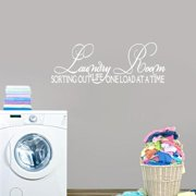 Sweetums Laundry Room, Sorting Out Life Wall Decal (65-inch x 18-inch)