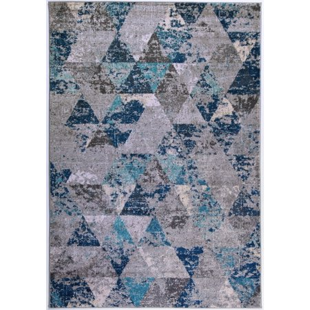 Abstract Geometric Pattern Triangles Area Rug Carpet in ...