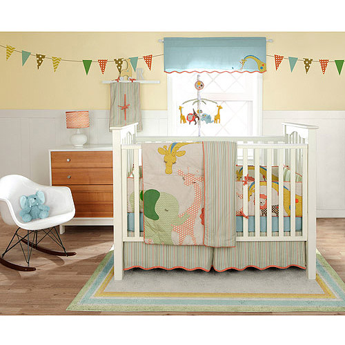 MiGi by Bananafish - Circus 3pc Crib Bedding Collection Set - Value Bundle