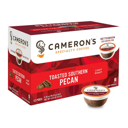 Cameron's Specialty Coffee Toasted Southern Pecan Flavored Single Serve Pods, 12 count
