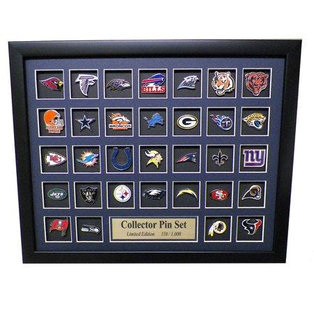 NFL Team Logo Collector Framed Pin Set - Limited Edition (Limited Edition Collectors Set)