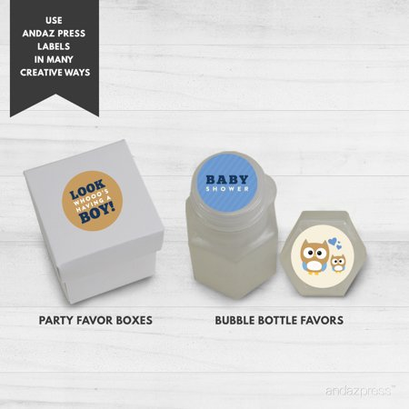 Party  Modern Owl Boy Baby Shower Hershey´s Kiss Favor Labels, 216-Pack
