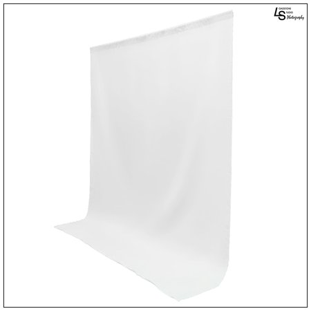 5x10' ft. White 100% Seamless Muslin Backdrop Machine Washable Background for Photo Video Lighting Set by Loadstone Studio