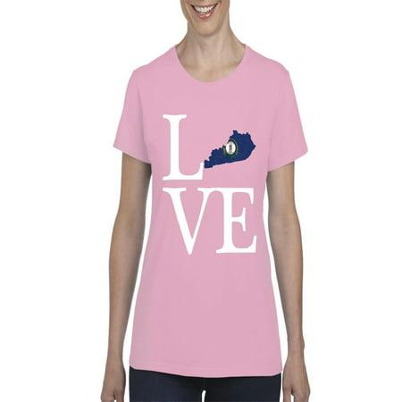 Love Kentucky Women Shirts T-Shirt Tee