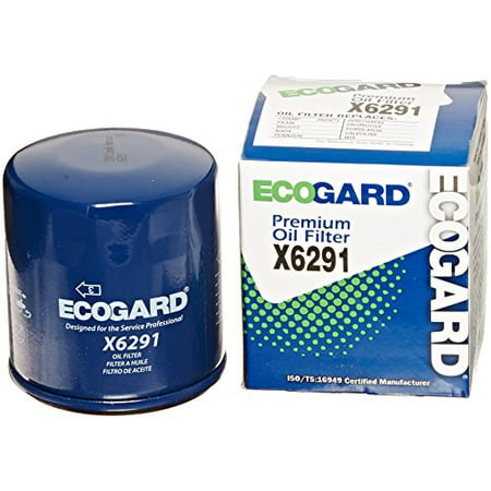 ECOGARD X6291 Spin-On Engine Oil Filter for Conventional Oil - Premium Replacement Fits Chevrolet