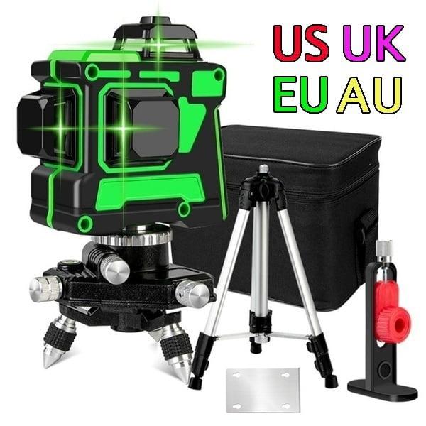 New 360 Laser Level Adapter For 12 Lines 3D Green Beam Line Holder Self Leveling