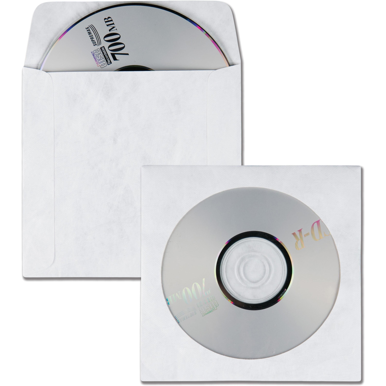 Quality Park Tyvek CD/DVD Sleeves, White, 100 / Box (Quantity)