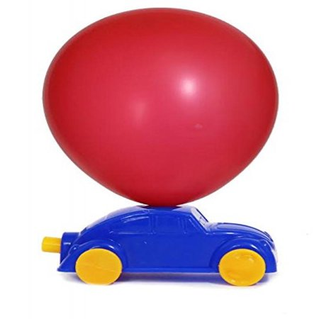 Dazzling Toys Balloon Powered Racing Cars, Prizes, Party Favor 6 Pack