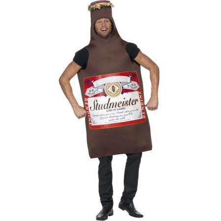 Mens Funny Studmeister Beer Bottle Lord Of Lagers Costume (Bottle Costume)