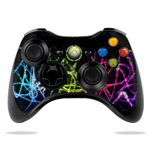 Protective Vinyl Skin Decal Cover for Microsoft Xbox 360 Controller wrap sticker skins Neon