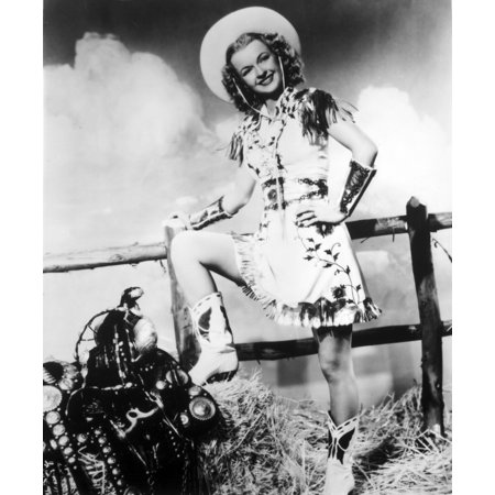 A portrait of Dale Evans wearing a cowgirl costume Photo Print](Dalek Costumes)