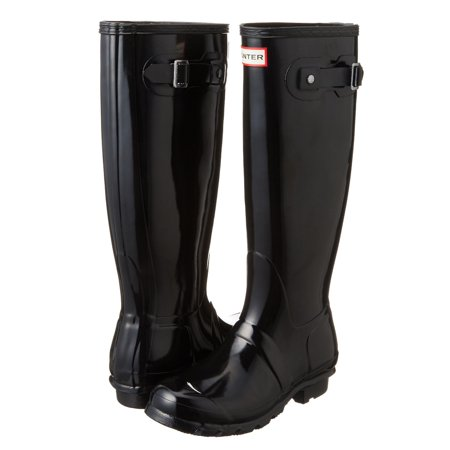 Hunter Original Tall Women's Gloss Rain Boot (Black, Size