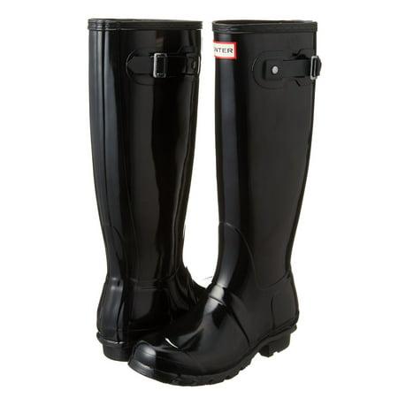 Hunter Original Tall Women's Gloss Rain Boot (Black, Size