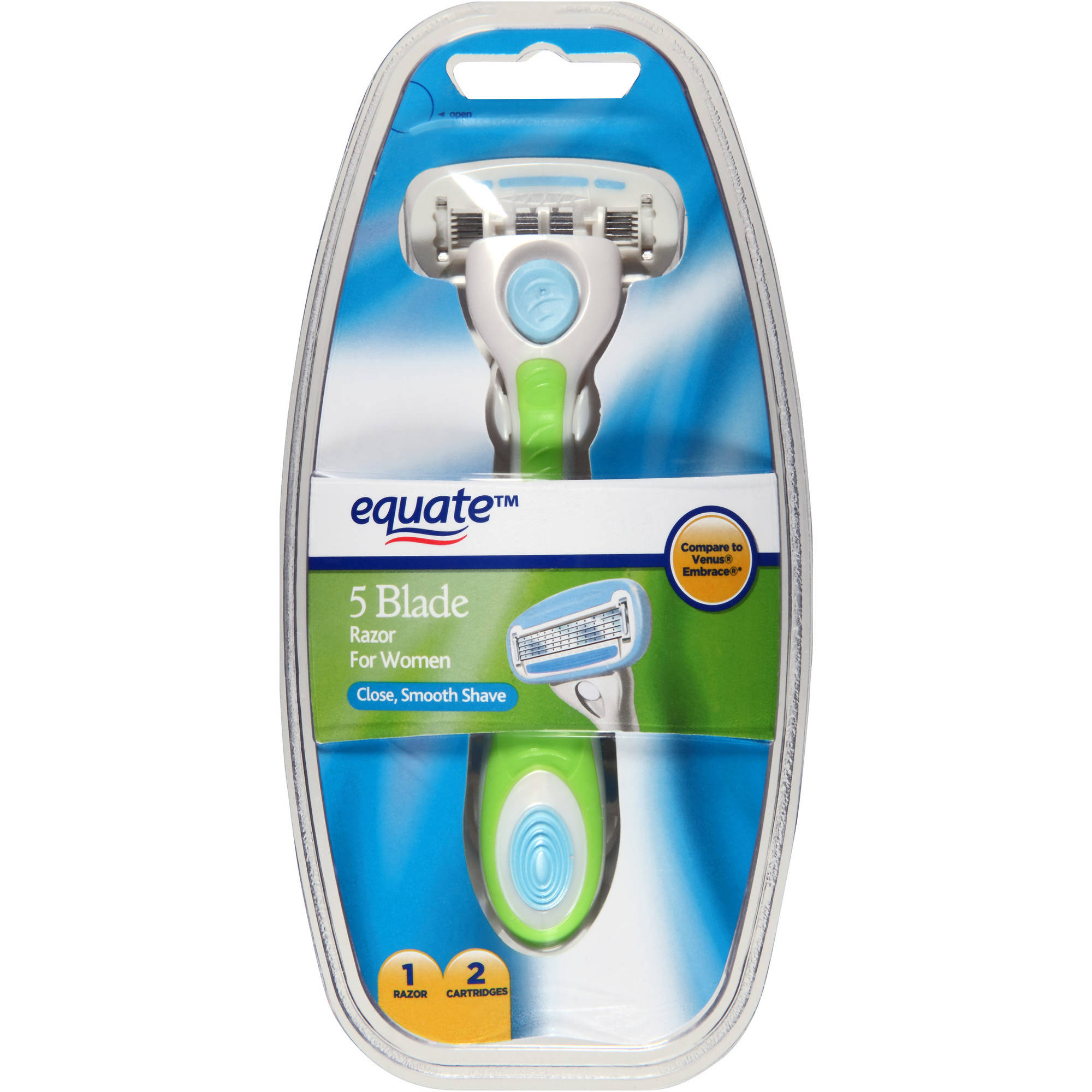 Equate 5 Blade Razor for Women,  3 pc