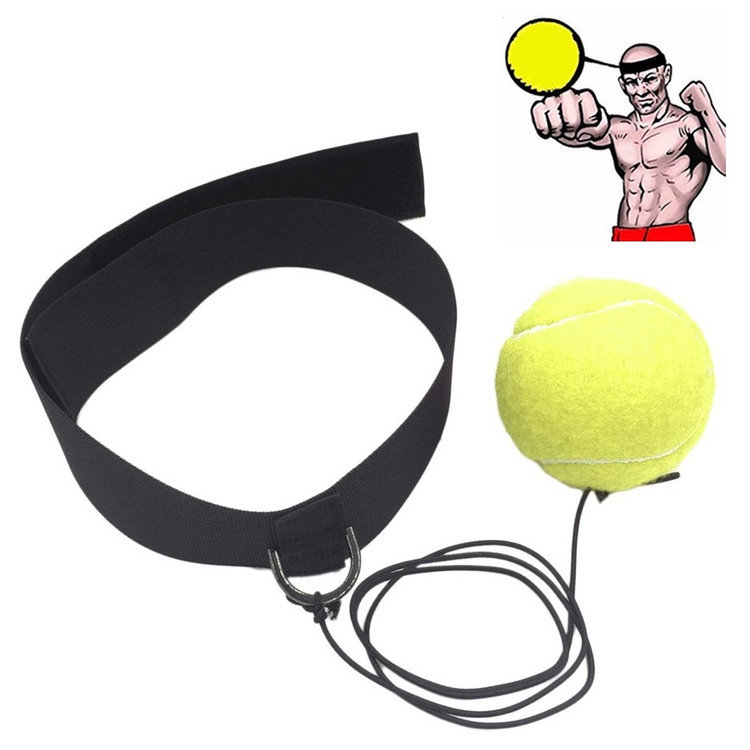 Eubi Fight Boxing Ball Headband Reflex Hat Boxing Speed Response Ball on Rope String Boxing Ball Punching Equipment With Head Band For Training Boxing