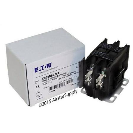 25 Amp / 2 Pole / 110-120V Coil , Eaton Cutler Hammer C25BNB225A Contactor