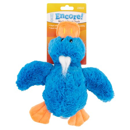 Encore Market Street Duck With Rope Toy For Dogs