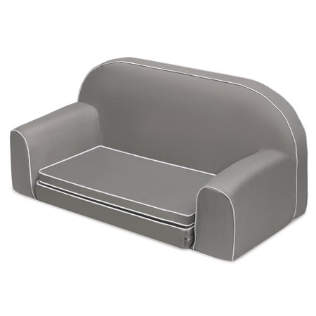 Badger Basket Upholstered Doll Sofa With Foldout Bed And Storage Pockets Executive Gray Fits