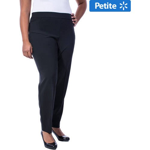 Women\'s Plus-Size Think Slim Pull-On Dress Pant, Available in Regular and  Petite Lengths